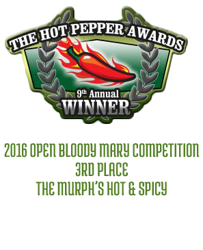 Best Bloody Mary Mix Award - Murphs Famous Bloody Mary Mix